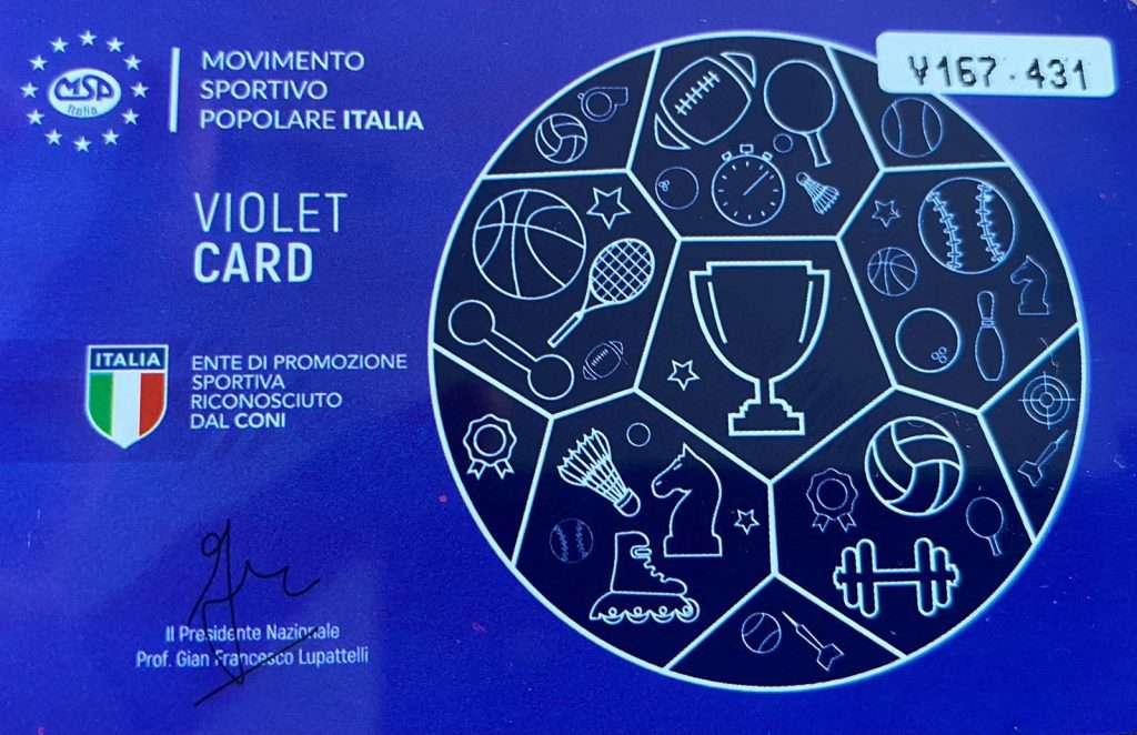 Violet Card Msp Calabria